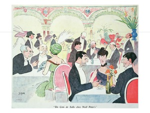 Sem noel peter s restaurant in paris 1914 colour litho